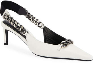 Tom Ford Pointed Slingback Pumps with Chain