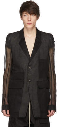 Rick Owens Black Two-Button Blazer