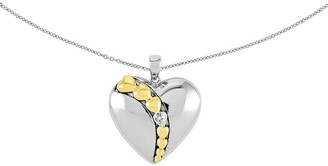 "Sentimental Expressions Sterling 18"" I Love YouNecklace"