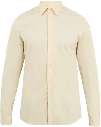Prada Single-cuff cotton-blend poplin shirt