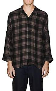 Chapter MEN'S CHECKED CAMP SHIRT-CHARCOAL SIZE M