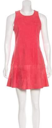 Balenciaga Suede Shift Dress Suede Shift Dress