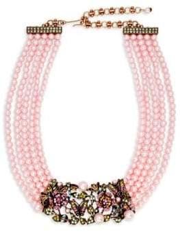 Heidi Daus Faux Pearl and Swarovski Crystal Garden Multi-Strand Necklace