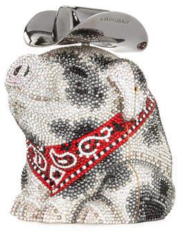 Judith Leiber Couture Hank Cowboy Pig Bag, White/Black