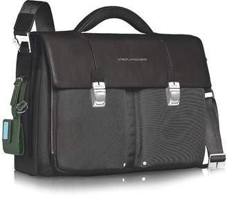 "Piquadro Link - Double Front Pocket Double Gusset 15"" Laptop Briefcase"