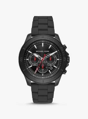 Michael Kors Sport Black-Tone and Silicone Watch