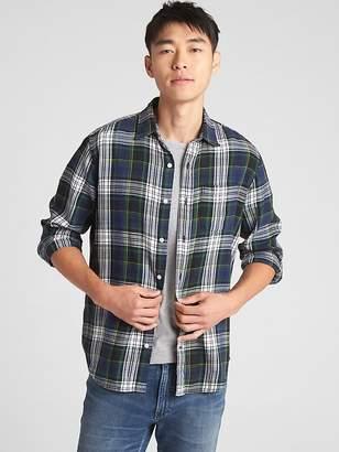 Gap Standard Fit Shirt in Slub Cotton Twill