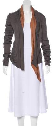 Rick Owens Lilies Draped Belted Cardigan