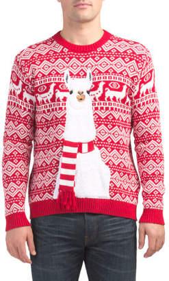 Festive Llama Sweater