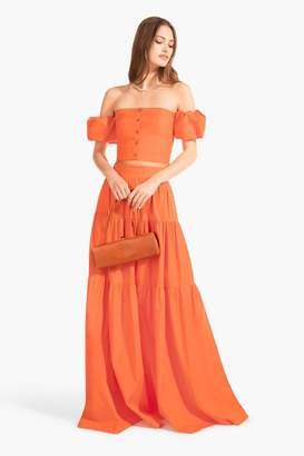 STAUD Apricot Skirt | Tangerine