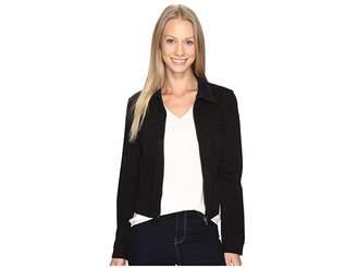 Liverpool Denim Zip Jacket in Powerflex Knit Denim Women's Coat