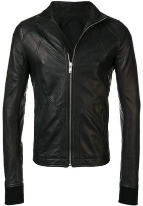 Rick Owens stand-up collar biker jacket