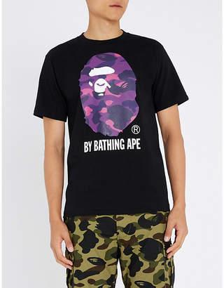 A Bathing Ape Camouflage logo-print cotton-jersey T-shirt