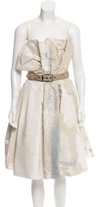 Dolce & Gabbana Belted Silk Dress