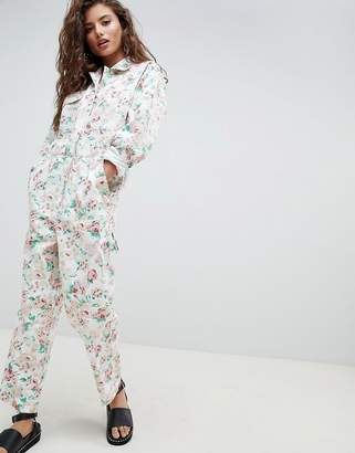 Asos Design DESIGN boilersuit in floral print
