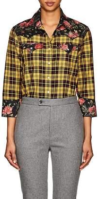R 13 Women's Cowboy Plaid & Floral Cotton Shirt