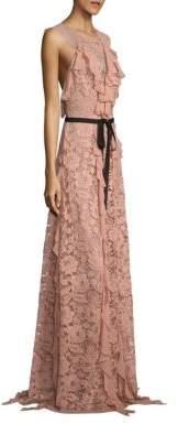 Sachin + Babi Melody Ruffled Lace Gown