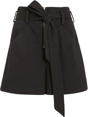 Intermix Gracie Paperbag Twill Cotton Shorts