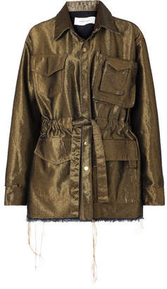 Marques Almeida Marques' Almeida - Metallic Denim Jacket - Gold