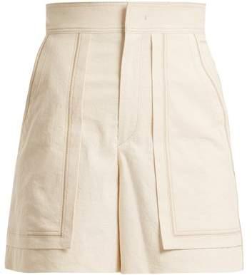 Lucky high-rise cotton-blend shorts