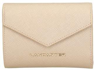 Lancaster Paris Adeline Champagne Saffiano Leather Compact Wallet