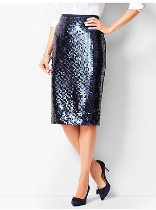 Talbots Sequined Pencil Skirt