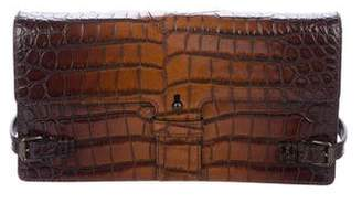 Tomas Maier Embossed Leather Flap Bag