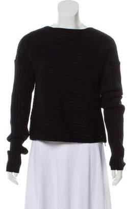 Tibi Wool Rib Knit Sweater