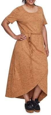 Junarose Plus Short-Sleeve Maxi Dress