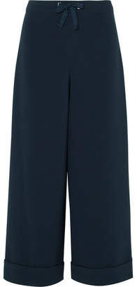 A.P.C. Palmer Crepe Wide-leg Pants - Midnight blue
