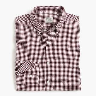 J.Crew Stretch Secret Wash shirt in gingham poplin