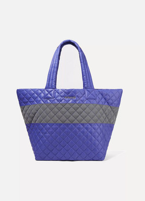 MZ Wallace Metro Medium Quilted Shell Tote - Purple