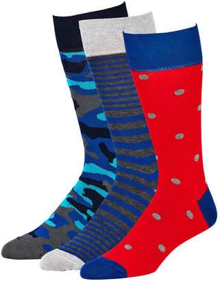 Neiman Marcus Men's Fancy Mid-Calf Socks Set of 3