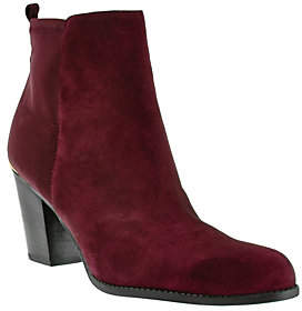 Marc Fisher Leather & Stretch Ankle Boots- Frenchie