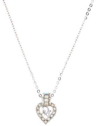 Christian Dior Crystal Heart Pendant Necklace