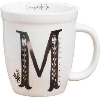 NATURAL LIFE 'I Am Grateful For' Monogram Coffee Mug