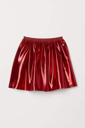 H&M Shimmering Metallic Skirt - Red