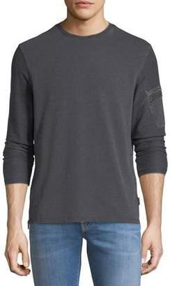 John Varvatos Burnout French Terry Sweatshirt