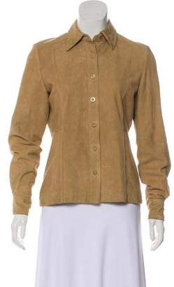 Façonnable Button-Up Suede Jacket