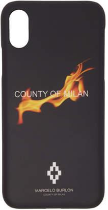 Marcelo Burlon County of Milan Black Flame iPhone X Case