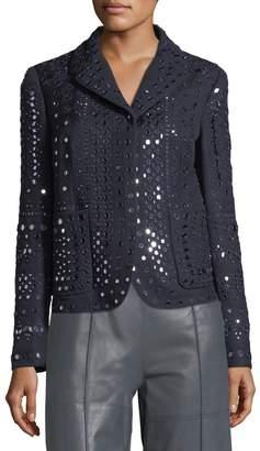 Valentino Mirrored Wool Blazer