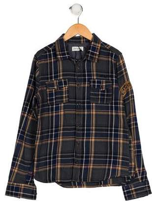 Jean Bourget Boys' Plaid Button-Up Shirt