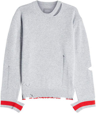 Zadig & Voltaire Jack Distressed Cashmere Pullover