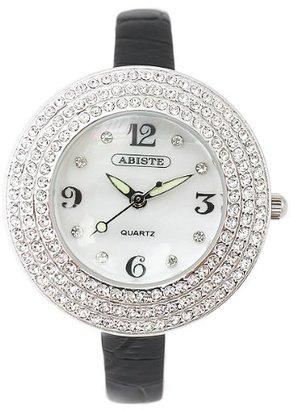 Abiste (アビステ) - [アビステ]ABISTE ラウンドフェイスベルト時計/ブラック 9300006S/B