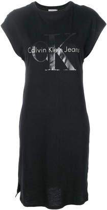 Calvin Klein Jeans logo print T-shirt dress