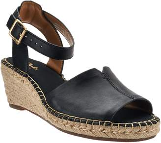 Clarks Artisan Leather Espadrille Wedge Sandals - Petrina Selma