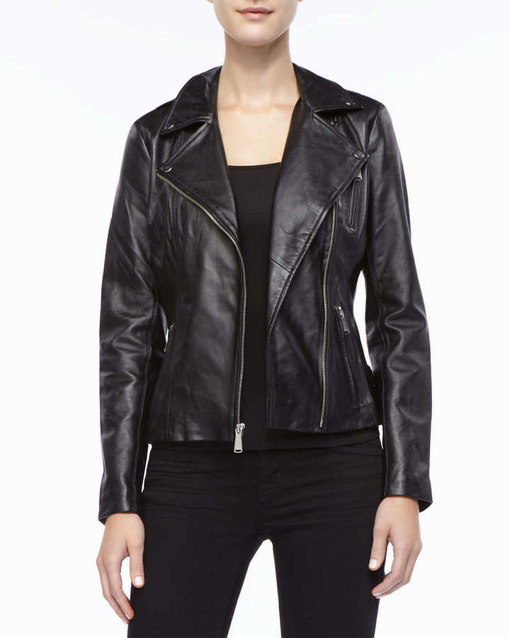 Neiman Marcus Leather Moto Jacket