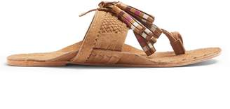 Figue Scaramouche striped suede tassel sandals