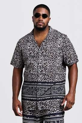 boohoo Big & Tall Animal Print Jersey Shorts