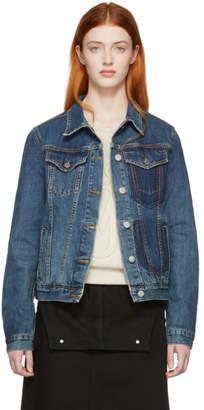 J.W.Anderson Blue Denim Shaded Pocket Jacket